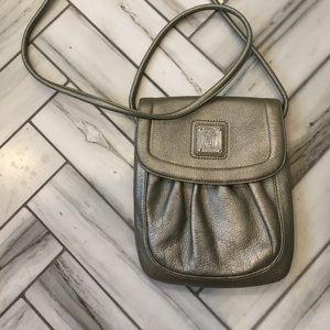 Tignanello metallic pebbled leather Crossbody